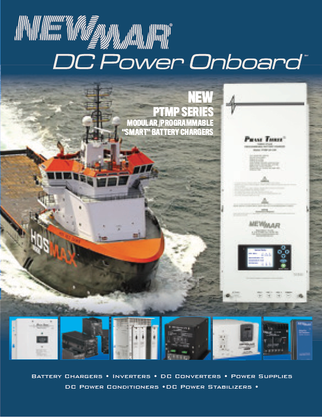 Newmar DC Power Onboard Marine Catalog Cover